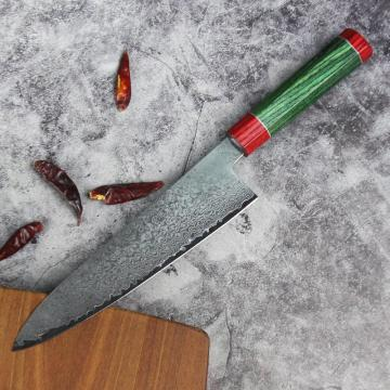 Cuchillo de cocina Hammered Damascus Chef Knife