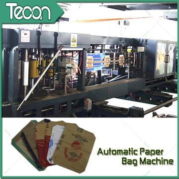 Sistema automatizado de flujo de materiales para la producción de sacos de papel multi-papel