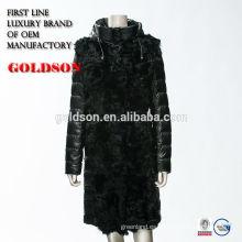 Fox abrigo de piel de invierno dama real 2017 mercado ruso