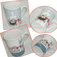 Beautiful Girl 300ML Porcelain Decal Mug For BS130531B