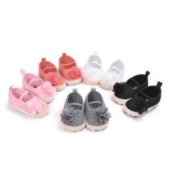 Sapato de bebê de criança infantil anti-derrapante macio de 5 cores único Loafer