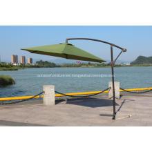 3m jardín redonda en aluminio Cantilever Parasol manivela
