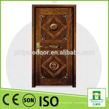 Puerta acorazada de madera de acero aprobada CE CE de China SONCAP