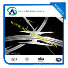 Galvanized Welded Razor Wire Mesh/Blade Concertina Razor Barbed Wire Export to American, African, Australia, Canada
