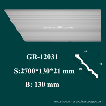 new arrival waterproof material PU ceiling moulding for modern house interior