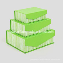 Caja de regalo de embalaje de papel rígido con solapa e imanes