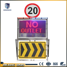traffic equipment flexible flash light display sign board
