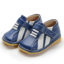 Navy Sneaker with White Stripes Toddler Boy