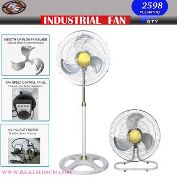 Промышленный вентилятор с белым и золотистым цветом