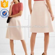 Blush Wool-crepe Saia Fabricação Atacado Moda Feminina Vestuário (TA3045S)
