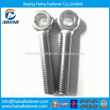Stock stainless steel eye screws with machine thread