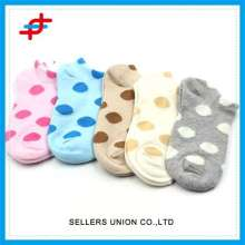 Young Girls Knitted Tube Sock Of Color Dots