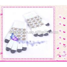 Luvas de malha de fio acrílico