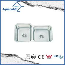 Pia de cozinha modificada de aço inoxidável de dupla bacia (ACS8445M)