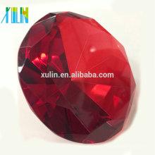 Diamante de cristal rojo de los 80MM para los favores de los recuerdos de la boda / el regalo de cumpleaños