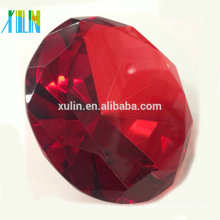 80MM Red crystal Diamond For Wedding Souvenirs Favors/ Birthday gift