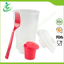 BPA-Free 3 in 1 Gehen Salat Cup mit benutzerdefinierter Farbe