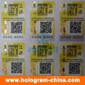 Etiquetas adhesivas de holograma evidentes con la impresión de código Qr