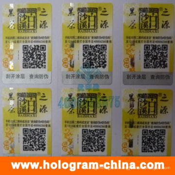 Custom 3D Laser Hologram Stickers with Qr Code Printing