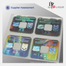 Hologramm Tamper Proof Etiketten zum Abdichten von Anwendung