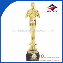 2017 metal trophy customized Oscar awards trophies