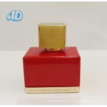 Ad-P238 Bouteille de parfum carrée en verre rouge 25ml