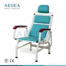 AG-TC002 equipo médico de infusión única utilizado sillas de hospital de metal