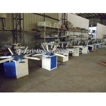 HS-1126 Manual 6 cores baratos t-shirt máquina de impressão de tela