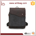 Factories Sale Genuine Leather Shoulder Bags For Man Canvas Messenger Bags