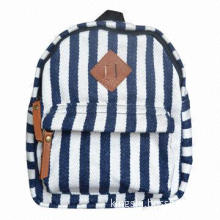 Small backpack, suitable for children, parenting style, naval stripe