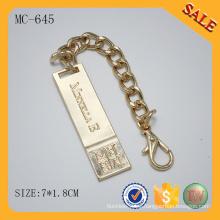 MC645 Herrajes metálicos para la placa del logotipo del bolso accesorio