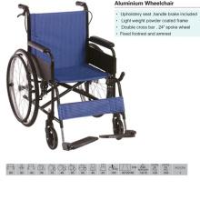 Wheelchair, Alum Frame, Nylon Upholstery Seat