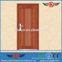 JK-A9019 améliorer le porte en bois stratifié en placage blindé en acier