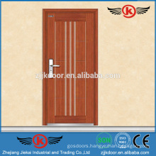 JK-A9019 enhance steel armored veneer laminated wood door price