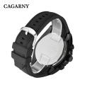 6827multi-Function Wristwatch 48mm Case Ss hebilla correa de silicona