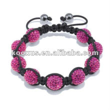 Bracelet Disco Ball Beads Black Hematite Shamballa