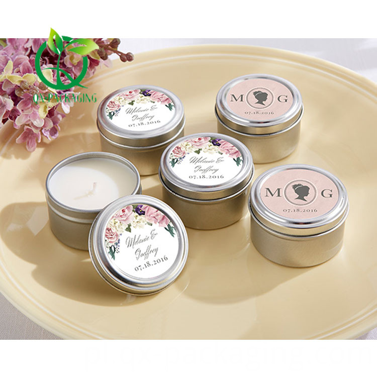 Colored Candle Tins
