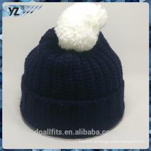 Heiße verkaufende Wolle gestrickter Hut mit Qualität