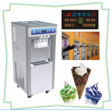 Pre-cooling Soft Serve Automatic Ice Cream Machine / Maker For Buffet Restaurant With 2 + 1 Mixed Flavors