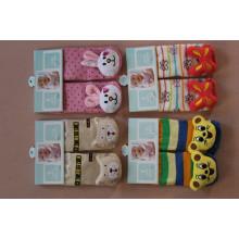 Baby-nette Anti-Belegboden-Socken mit Tier 3D / reizende / warme Innensocken