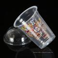 Copos 14oz descartáveis plásticos do takeaway plástico material do eco PP com tampa