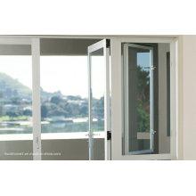Bottom Axis Hinges Double vitrage portes et fenêtres en aluminium