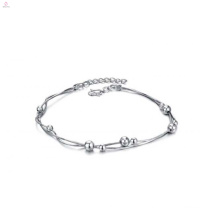 Elegant jewelry handmade jewelry white gold plated ankle bracelet for women