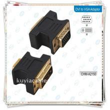 CONVERSOR DVI PARA VGA DVI 24 + 5 macho para VGA conversor de adaptador de monitor macho