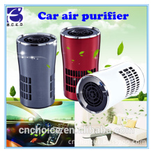 "Super quiet 4.9"" electricial smart car vehicle air purifier with true HEPA-pure filter for allergies and dust"
