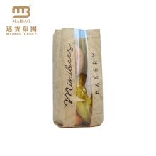 Fabrik-biologisch abbaubares kundenspezifisches Backen-Lebensmittel, das Wegwerfbrot-Kraftpapier-Taschen mit Logo für Bäckerei verpackt