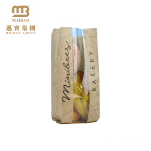 Factory Biodegradable Custom Baking Food Packing Disposable Bread Kraft Paper Bags With Logo For Bakery