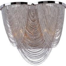 Hotel Decorative Chandelier Lights Chrome pendant lighting lamp Metal Aluminum Chain Chandeliers