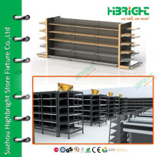 Supermarket equipment metal display shelf rack for grocery store