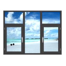 Fenêtres à battants affleurantes en aluminium enduit de poudre avec écran